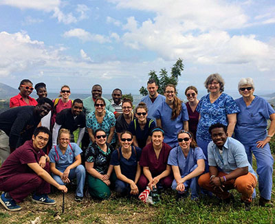 pharmacy students in haiti