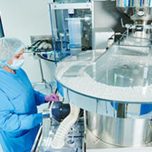 image of pharmaceutical manufcaturing