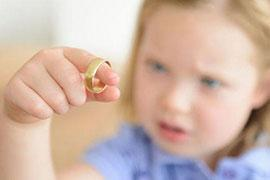child holding ring